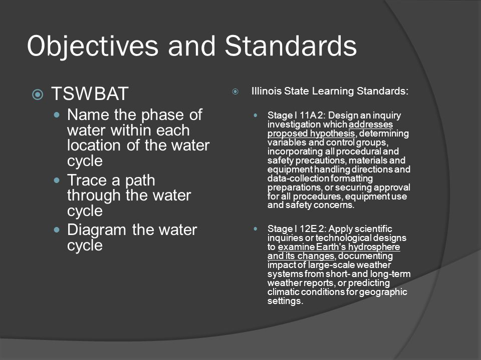 Patrick r murphy objectives and standards tswbat name the phase objectives and standards tswbat name the phase of water within each location of the water ccuart Image collections