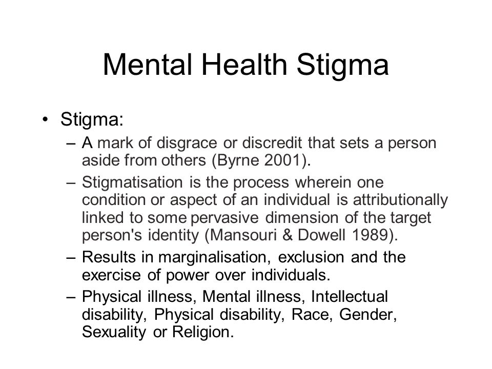 Mental Health Stigma And The Media Dr Matthew A Sadlier Mb Bch