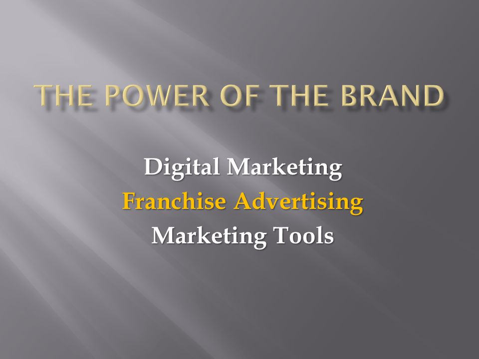 Digital Marketing Franchise Advertising Marketing Tools