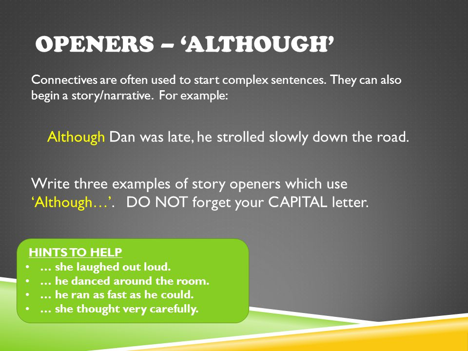 story openers examples