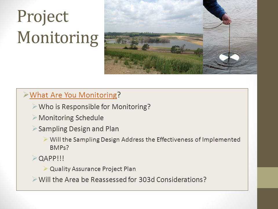 Project Monitoring  What Are You Monitoring.