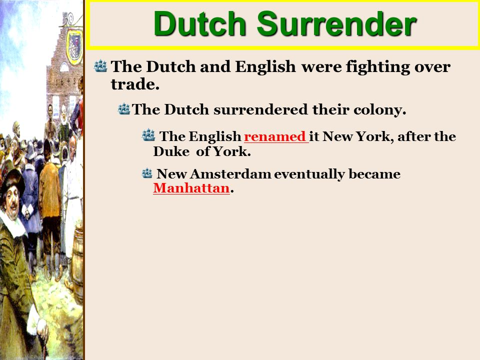 Image result for the dutch surrendered new amsterdam and renamed it new york