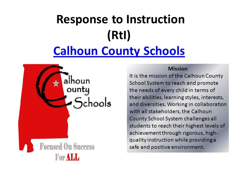 Response To Instruction Rti Calhoun County Schools Calhoun County