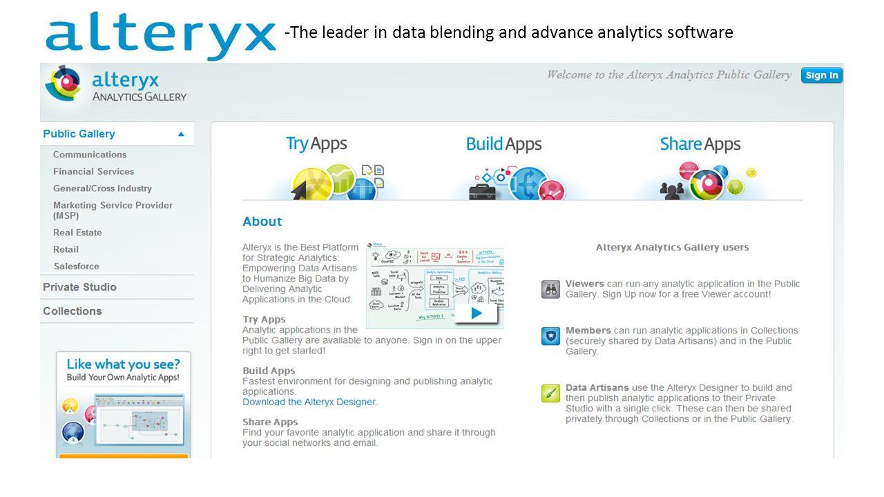 Marihebert Leal  Alteryx is the fastest analytics plataform
