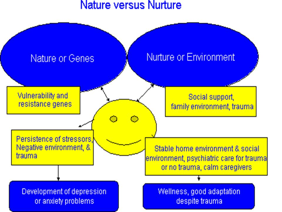 how does nature vs nurture influence human behavior