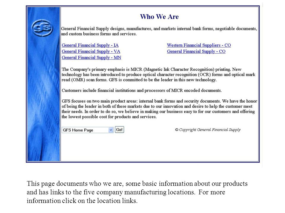 General Financial Supply Website & E-Commerce Solutions This
