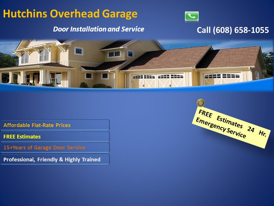 Hutchins Overhead Garage Door Installation And Service Call 608