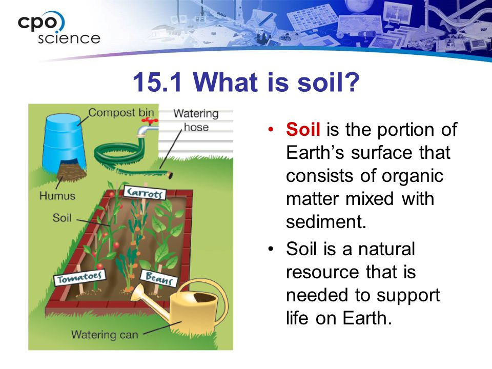 15.1 What is soil.