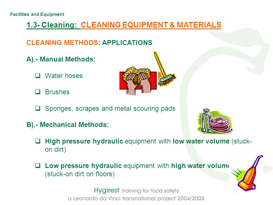 facilities and equipment hygiene facilities and equipment module 3 rh slideplayer com cleaning training manual laboratory cleaning training manual free