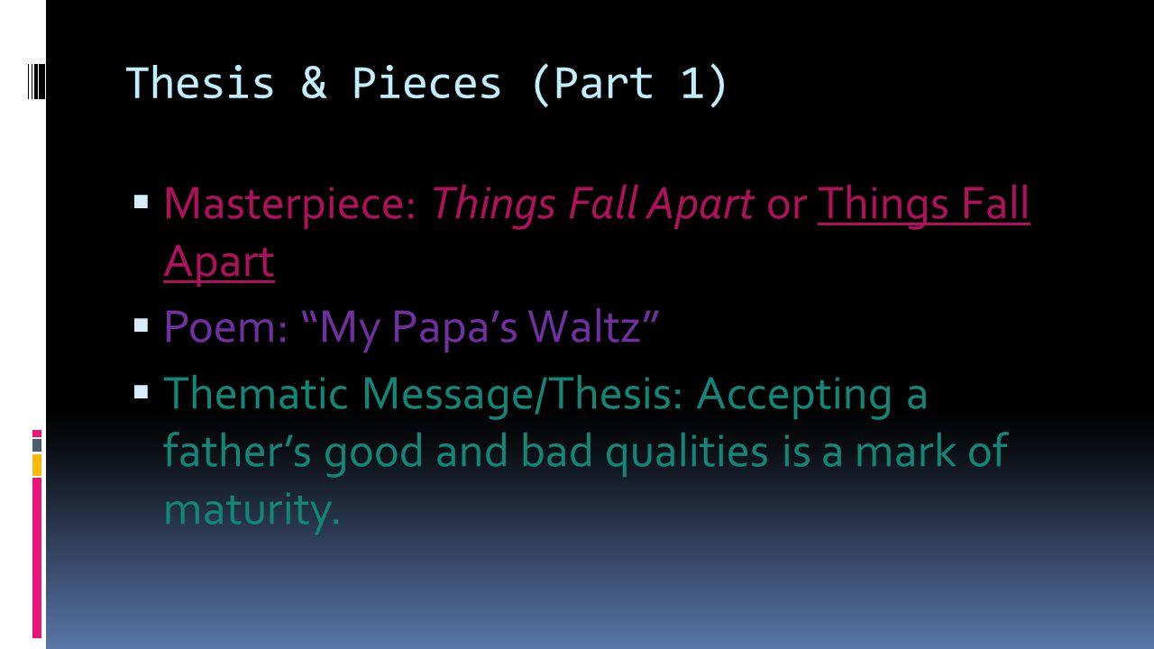 things fall apart poem