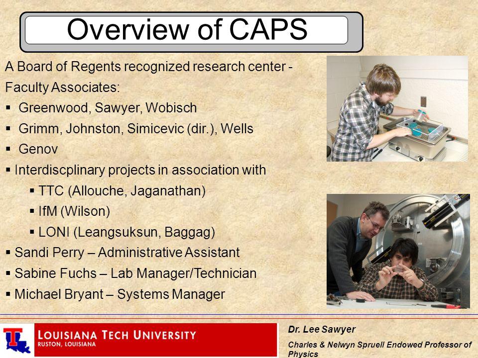 Dr  Lee Sawyer Charles & Nelwyn Spruell Endowed Professor of