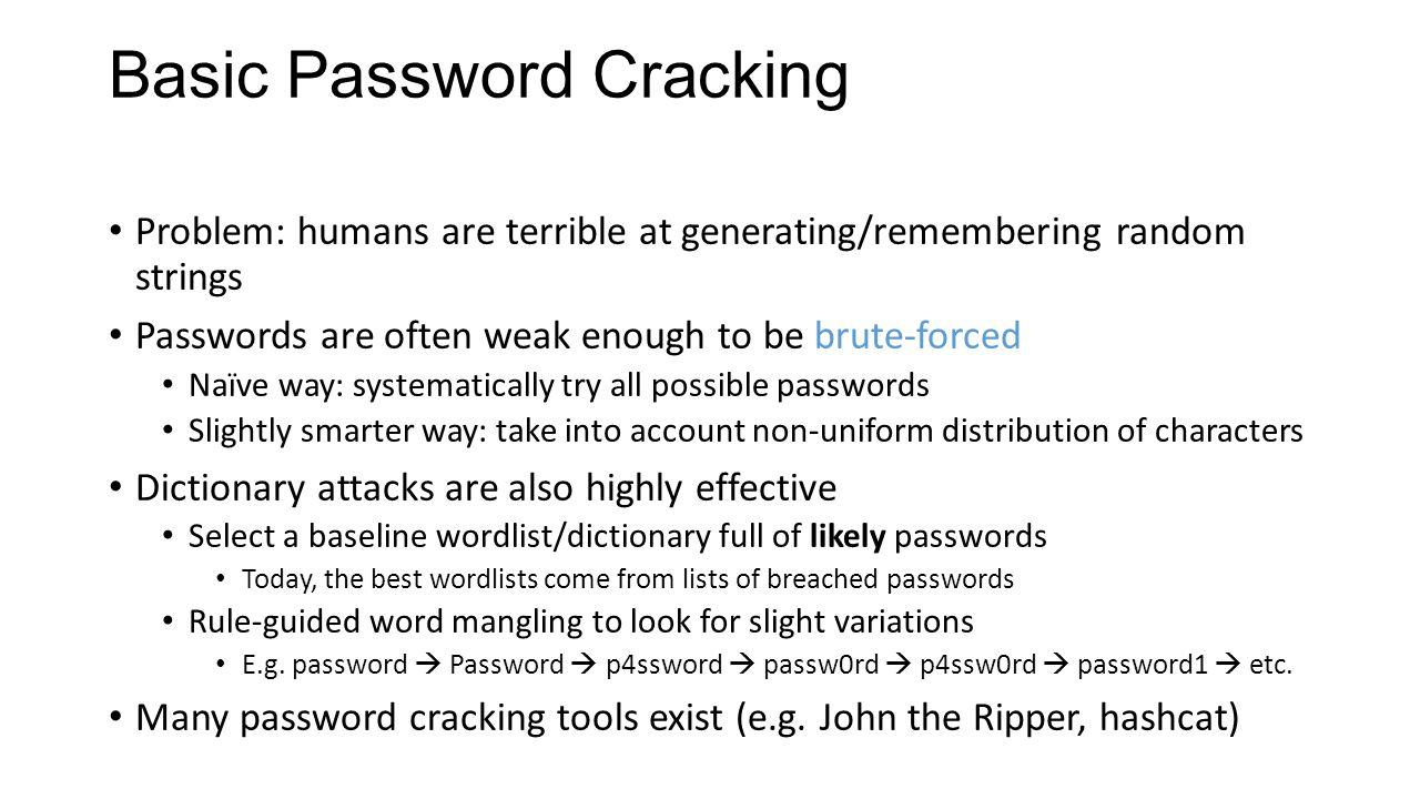 CS 4740/6740 Network Security Lecture 4: Authentication (Passwords