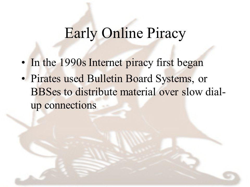 history of internet piracy