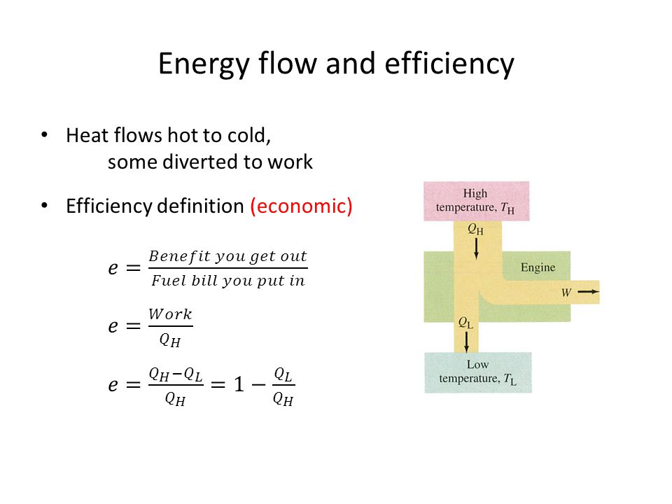 Energy flow and efficiency