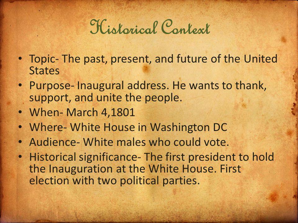 thomas jefferson inauguration speech