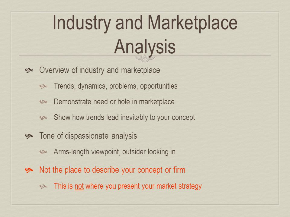business plan industry profile example