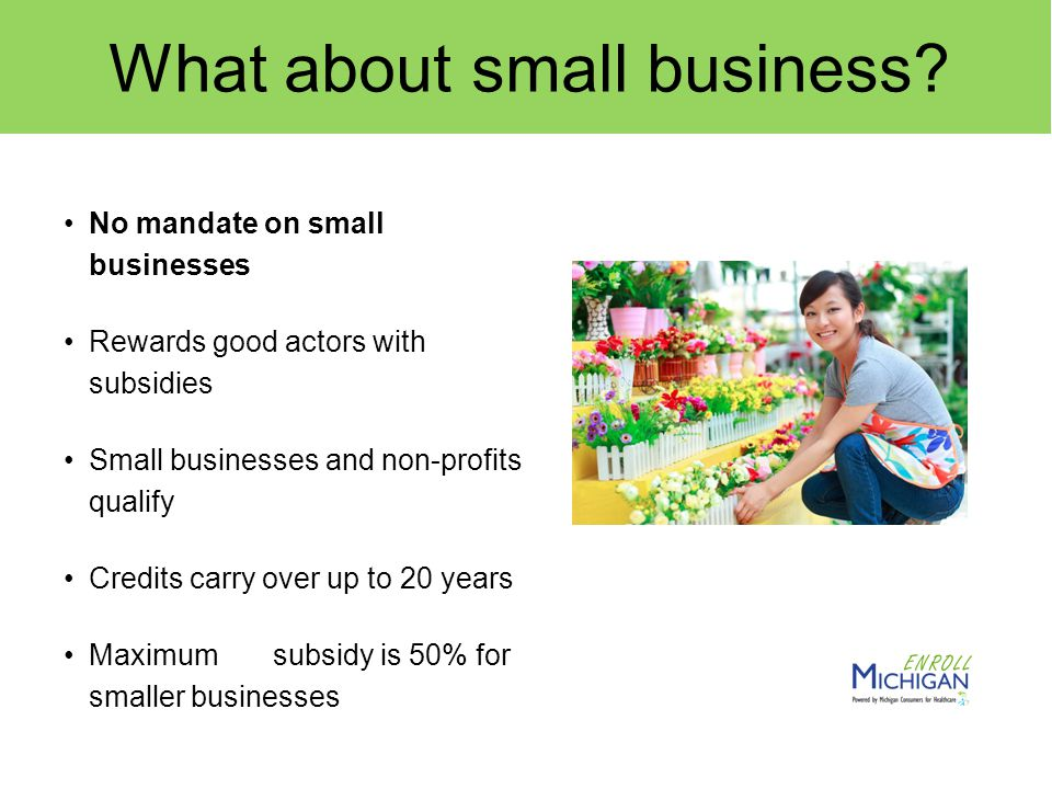 What about small business.