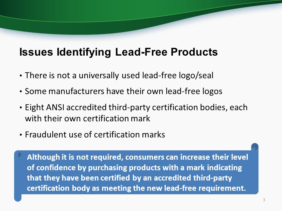 How to Identify Lead-Free Certification Marks for Drinking Water ...
