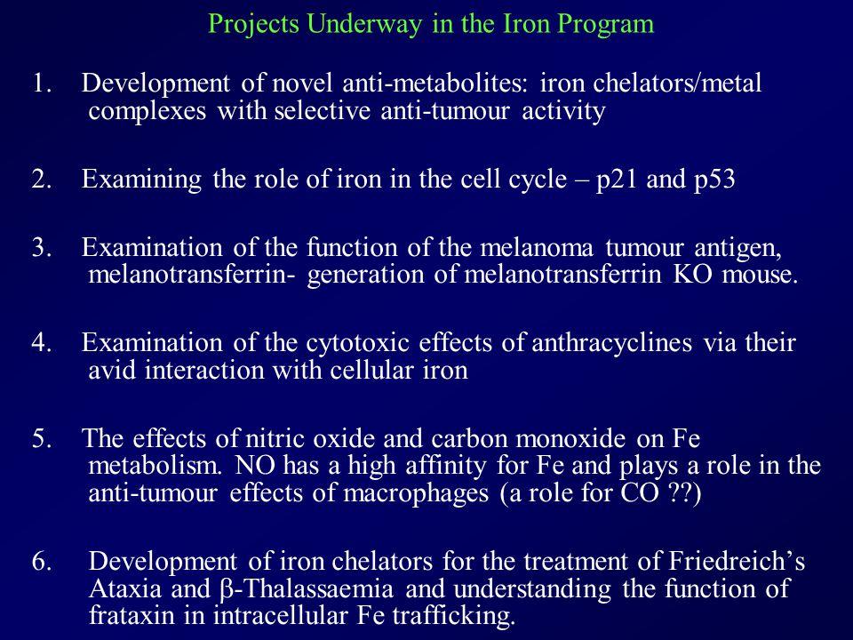 The Iron Metabolism and Chelation Program - CCIA Des Richardson