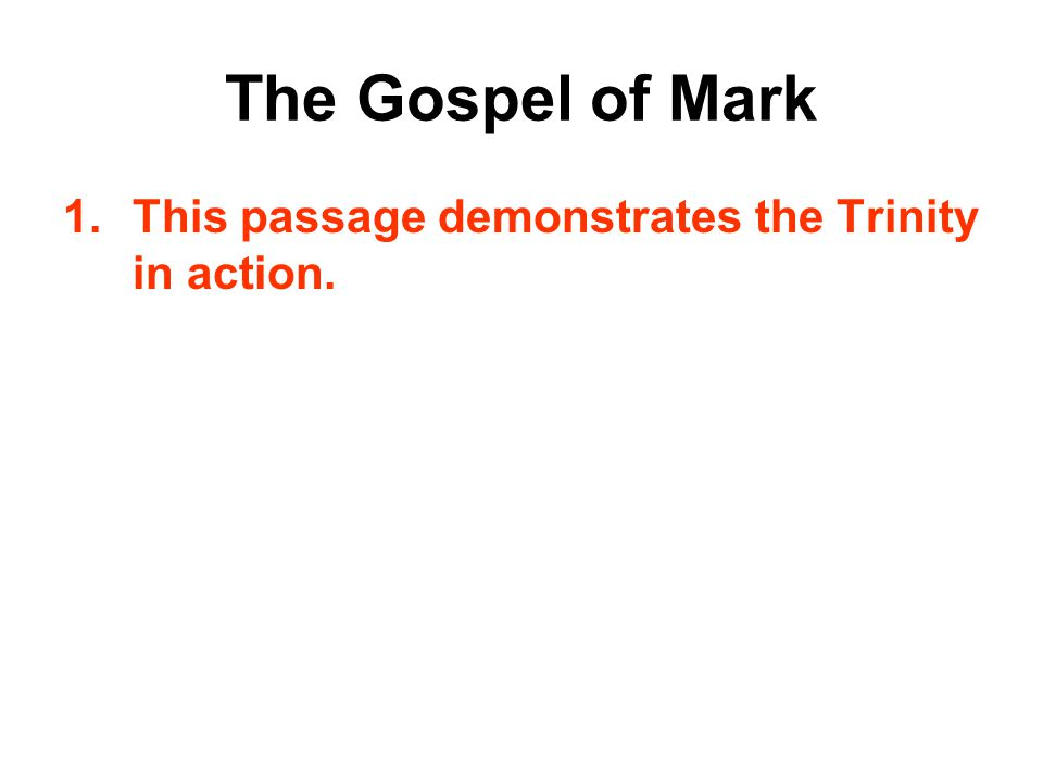The Gospel of Mark You Are My Child!  Mark 1:9-12 At that time Jesus