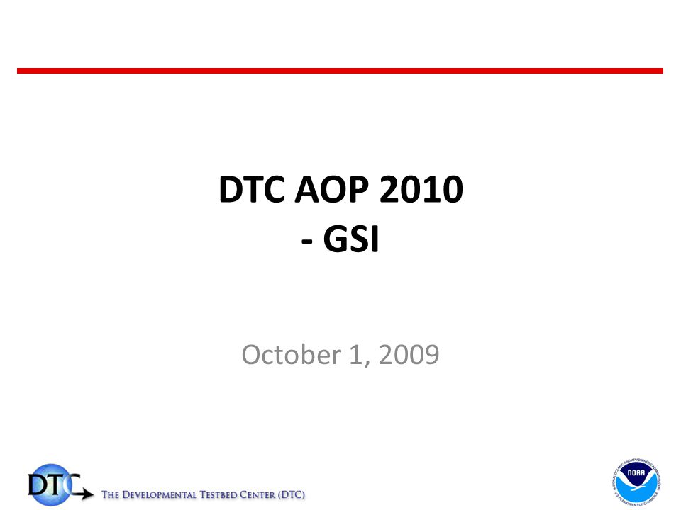 DTC AOP GSI October 1, FY09 Funding Resource/Tasks AFWA (February