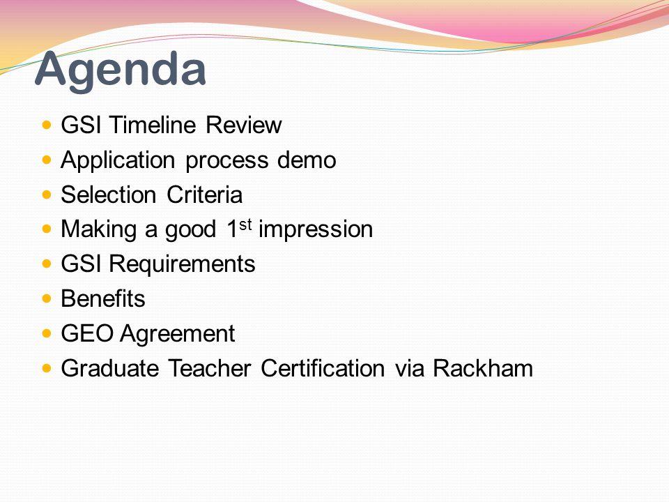Kelly Campbell Pite Department Administrator Agenda Gsi Timeline