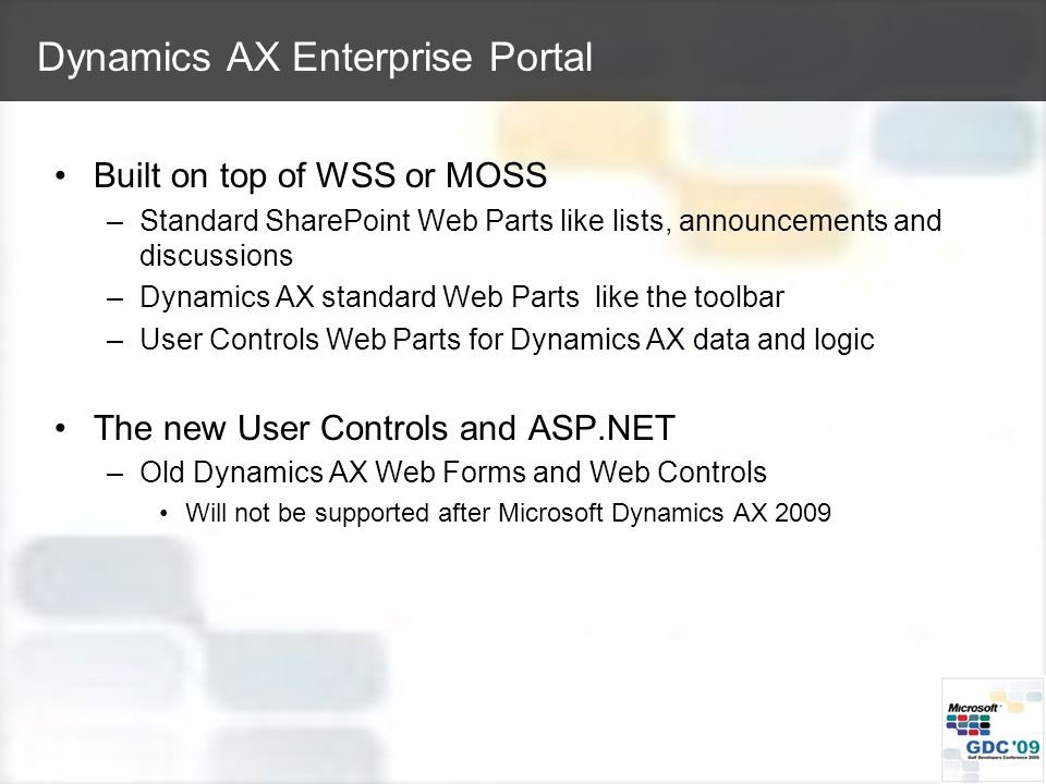 Microsoft Dynamics AX with other Microsoft Technologies Amer