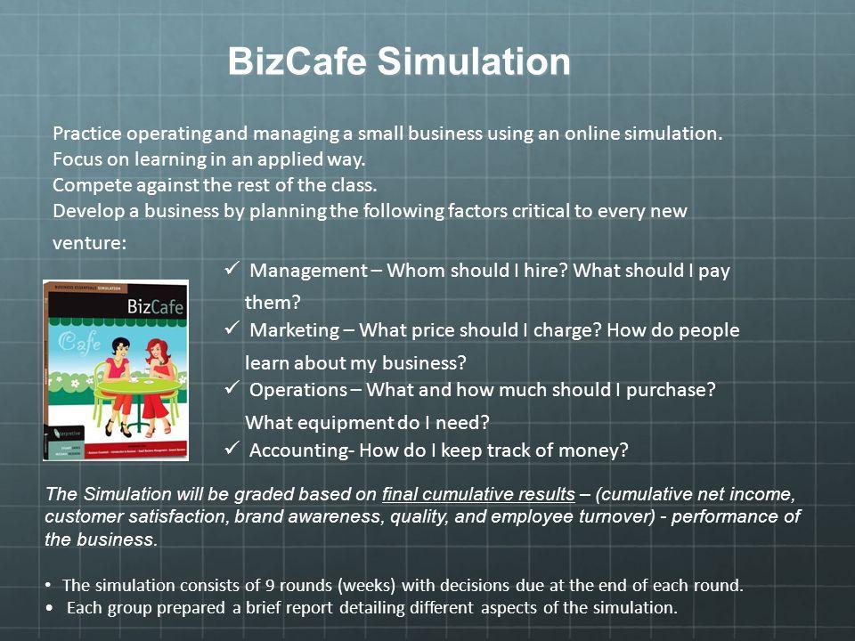 bizcafe simulation