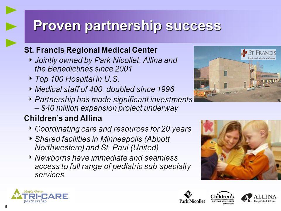 Maple Grove Tri-Care Partnership  1 Three leading health