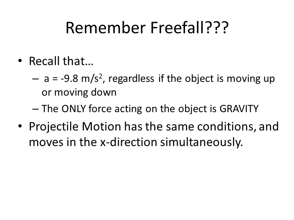 Remember Freefall .