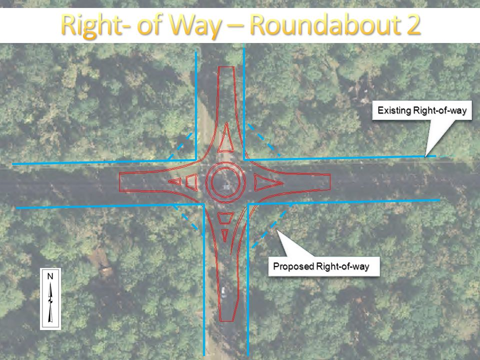 Existing Right-of-way Proposed Right-of-way