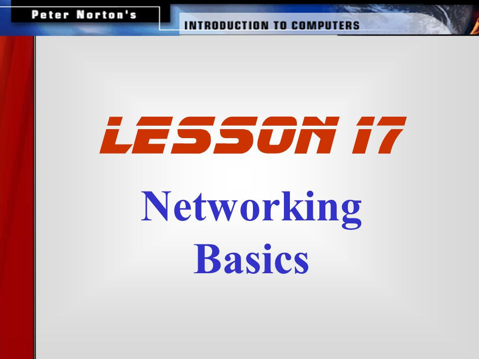 Networking Basics lesson 17