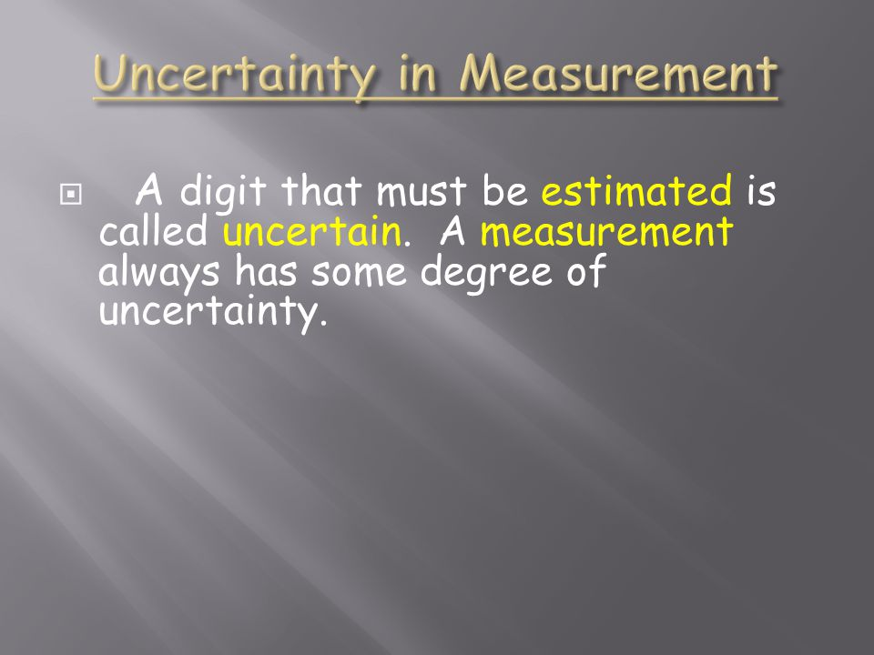  A digit that must be estimated is called uncertain.