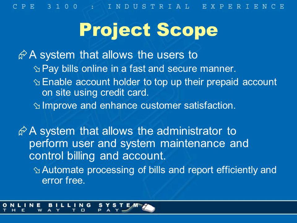 online billing system supervisor miss katy henley client mr steve