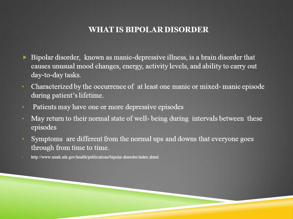 Bipolar Disorder MedlinePlus