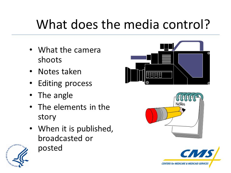 What does the media control.