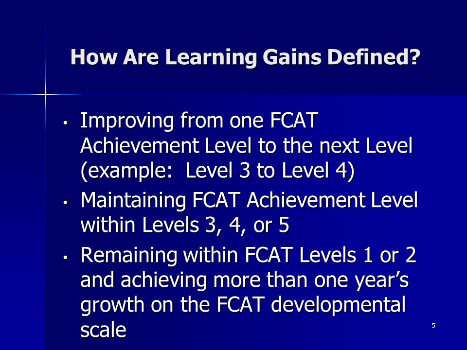 5 How Are Learning Gains Defined.