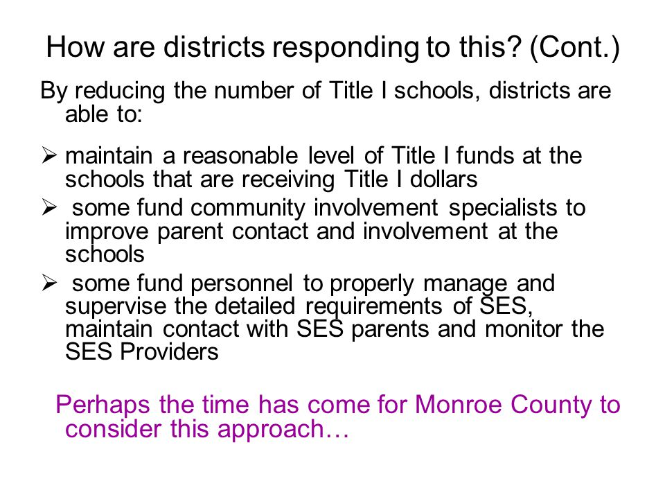 How are districts responding to this.