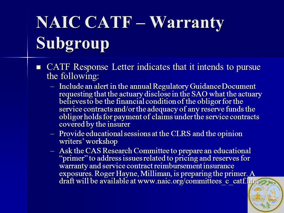 warranty response letter