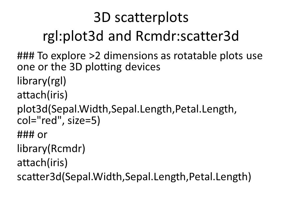 A guide to plotting in R 30 th April 2013 BRC MH