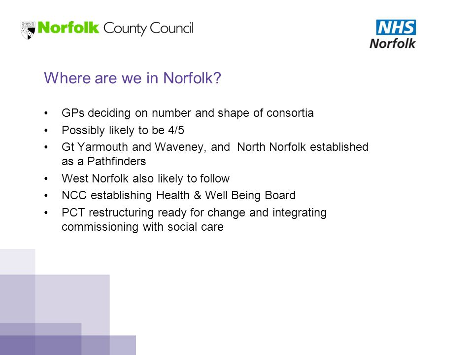 Where are we in Norfolk.