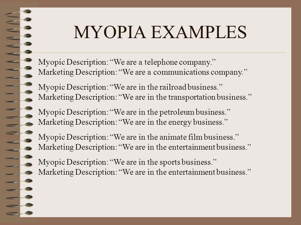 sport marketing myopia