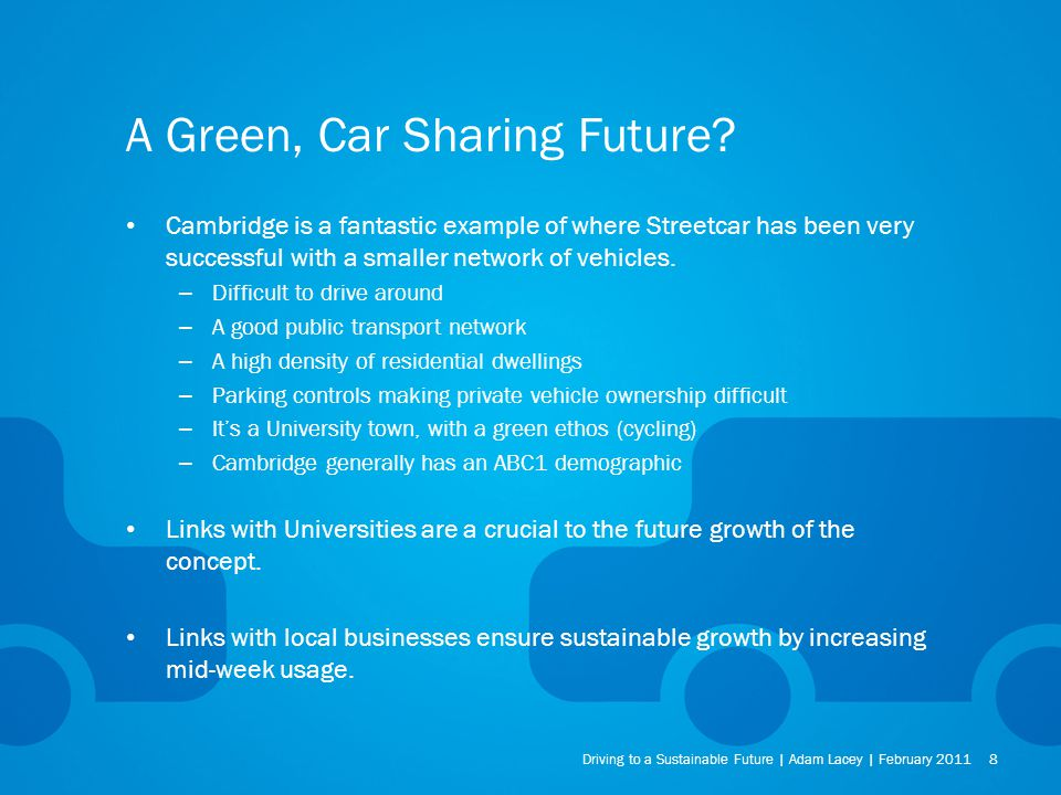 A Green, Car Sharing Future.