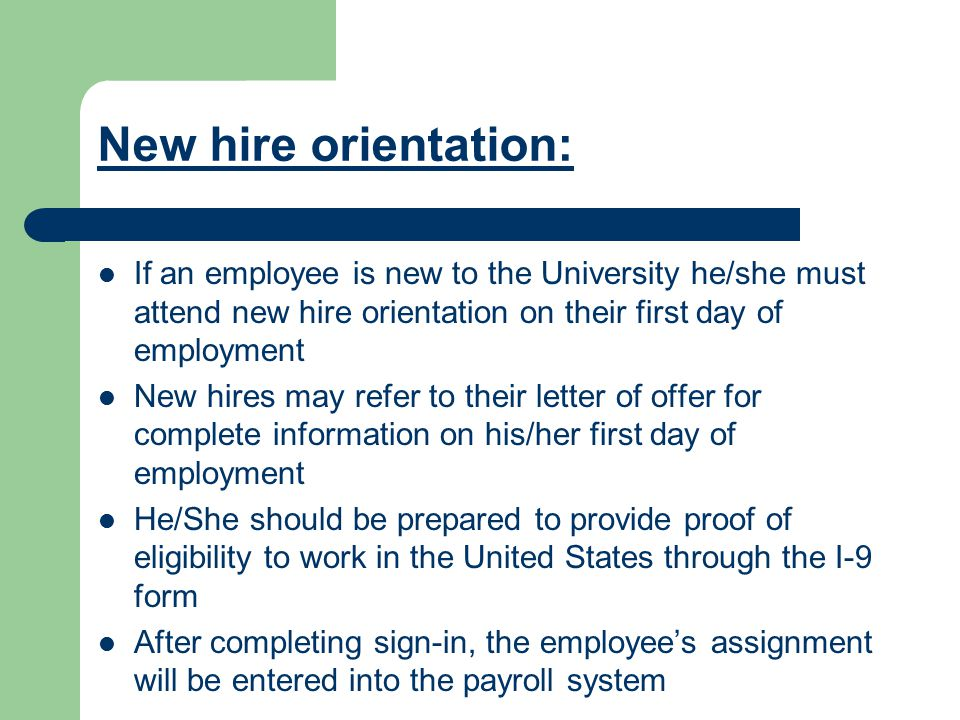 15 New Hire Orientation