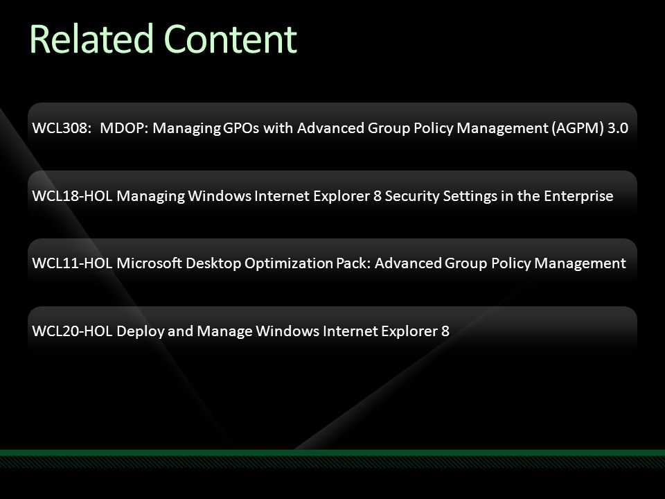 Michael Kleef Program Manager Microsoft Session Code: WSV