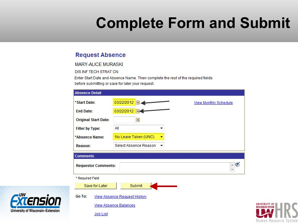 Complete Form and Submit 21