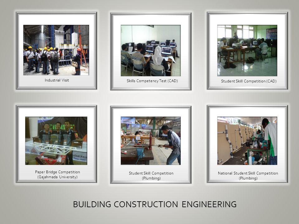 12 Industrial Visit BUILDING CONSTRUCTION ENGINEERING Skills Competency Test CAD Student Skill Competition Paper Bridge Gajahmada