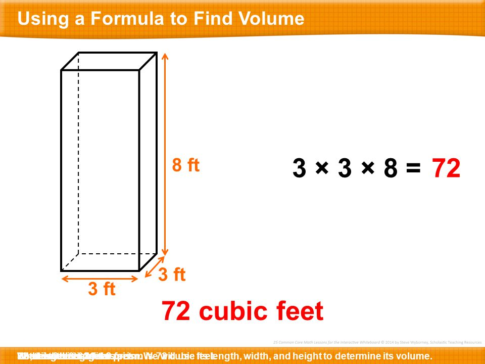 Using A Formula To Find Volume 5 Md C The