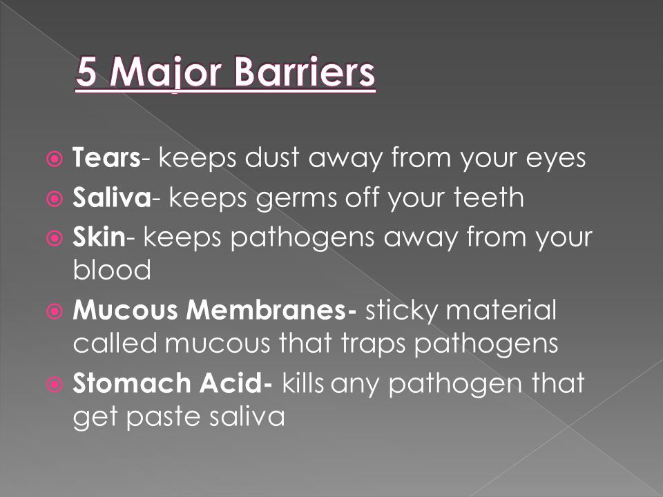  A combo of body defenses made up of cells, tissues, and organs that fight off pathogens and disease.