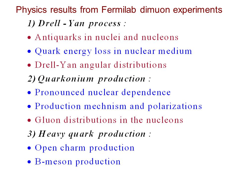 Physics results from Fermilab dimuon experiments